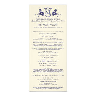 K&J Wedding Ceremony Program