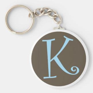 K Keychain.ai Basic Round Button Keychain