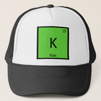 K - Kiwi Fruit Chemistry Periodic Table Symbol Trucker Hat