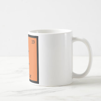 K - Kumquat Fruit Chemistry Periodic Table Symbol Coffee Mug