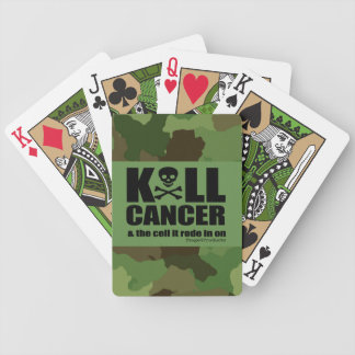 K*LL CANCER & the cell it rode in on -Green Camo Bicycle Playing Cards