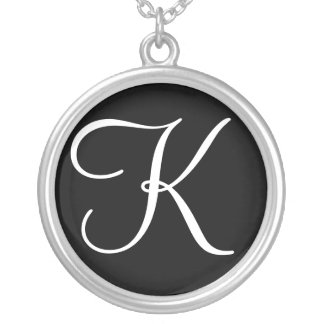 K Monogram Custom Pendant Necklace