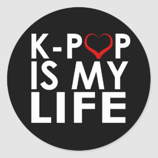 K-POP IS MY LIFE ♡ CLASSIC ROUND STICKER