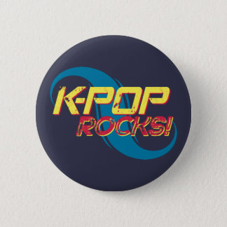 K-Pop Rocks!  (Light) 2 Inch Round Button