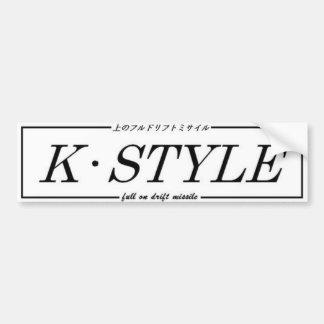 K Style bumper interior sticker Bumper Sticker