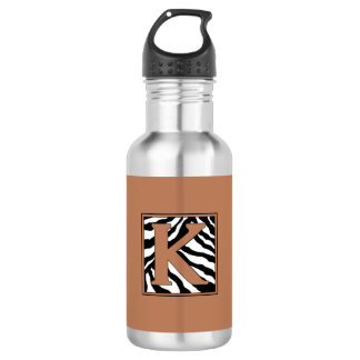 K-Zebra Monogrammed Water Bottle
