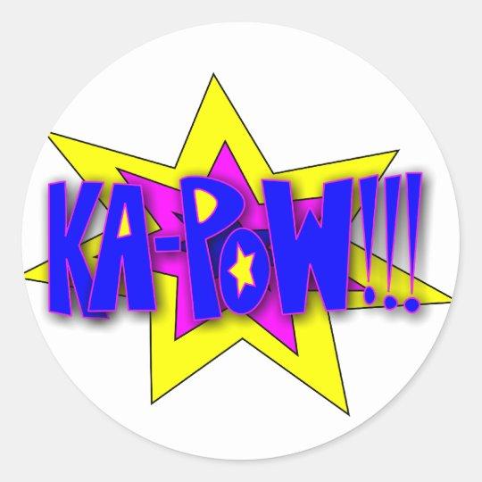 KA-PoW!!! Classic Round Sticker
