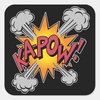KA-POW! Comic Book Graphic Square Sticker