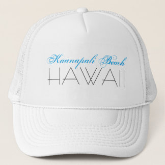 Kaanapali Beach, HAWAII Blue and Black Trucker Hat