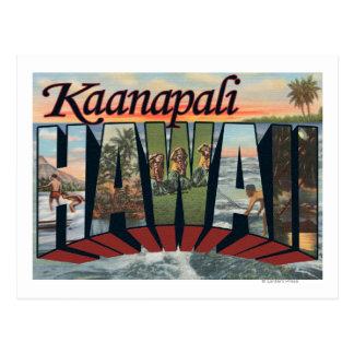 Kaanapali, Hawaii - Large Letter Scenes Postcard