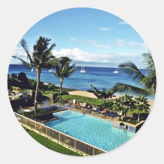 Kaanapali Resorts - Maui Classic Round Sticker