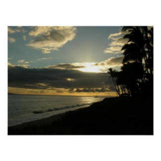 Ka'anapali sunset poster