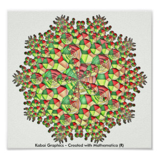 Kabai Graphics - Created with Mathematica (R) Poster