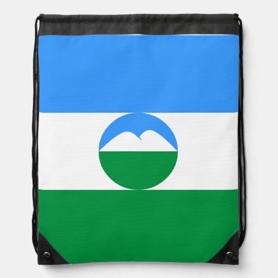 Kabardino-Balkaria Flag Drawstring Bag