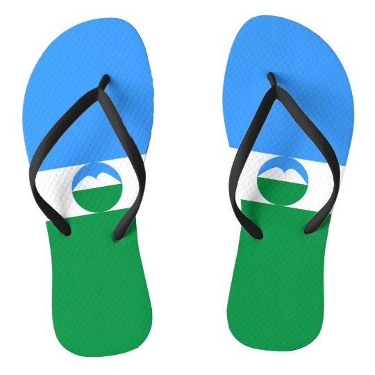 Kabardino-Balkaria Flag Flip Flops