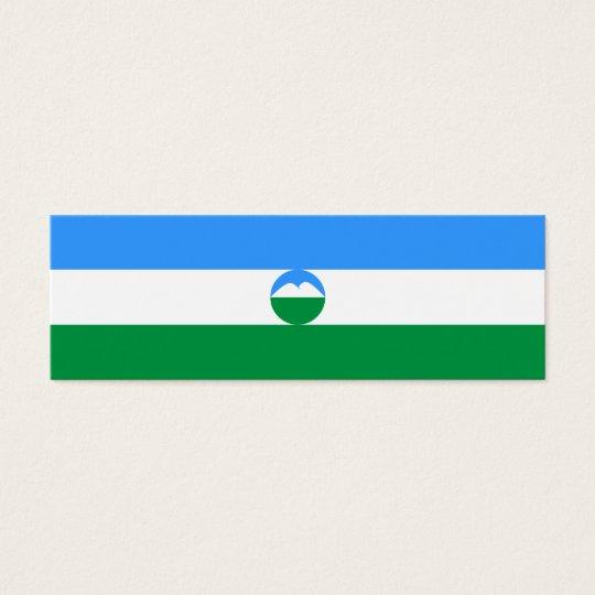 Kabardino-Balkaria Flag Mini Business Card