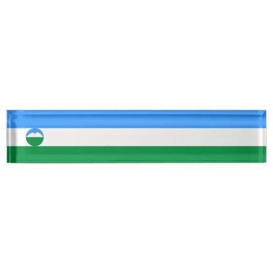 Kabardino-Balkaria Flag Name Plate