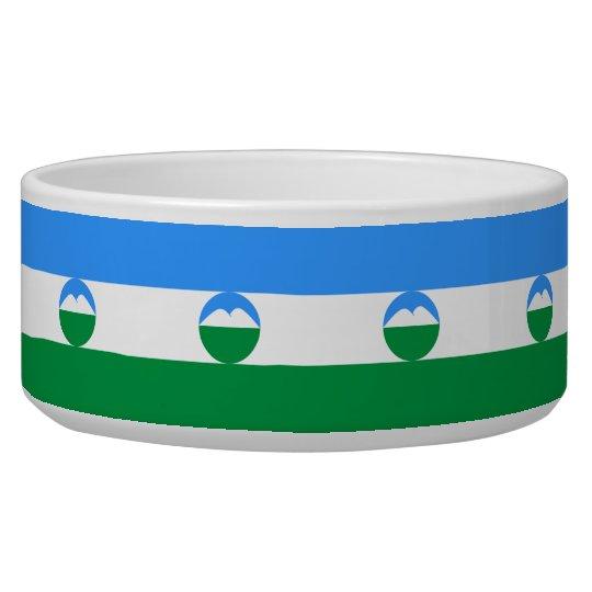 Kabardino-Balkaria Flag Pet Water Bowls