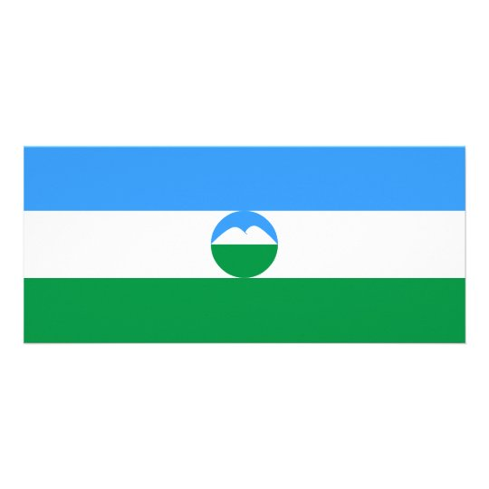 Kabardino-Balkaria Flag Rack Card Template