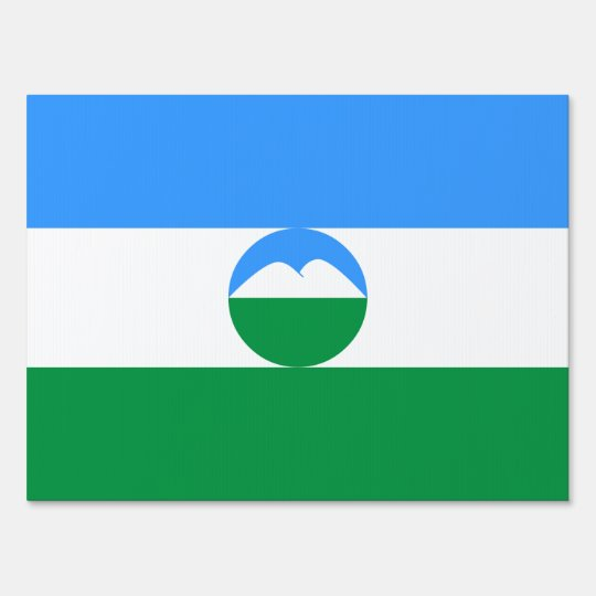 Kabardino-Balkaria Flag Sign