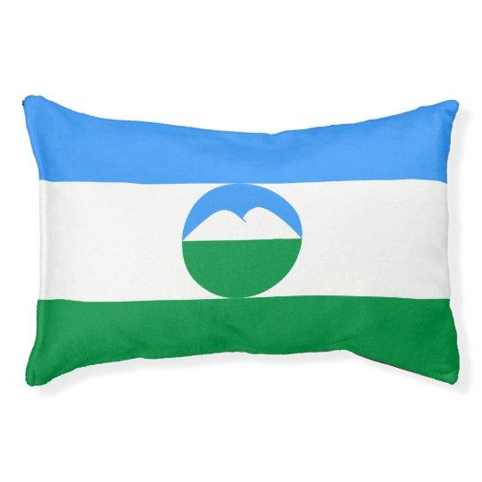 Kabardino-Balkaria Flag Small Dog Bed