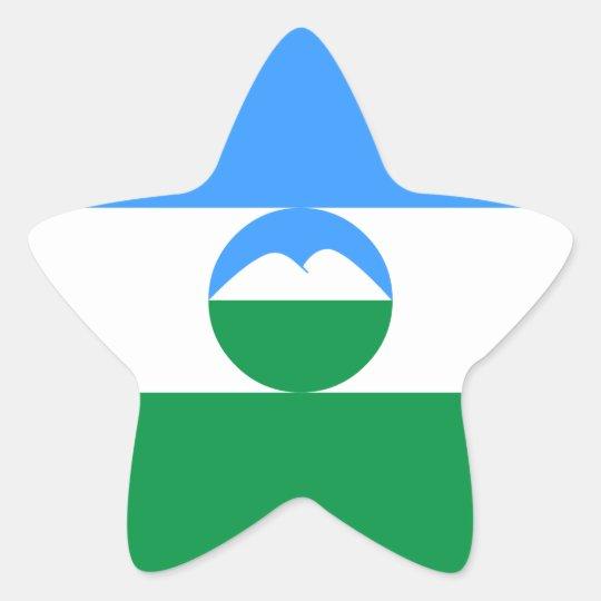 Kabardino-Balkaria Flag Star Sticker