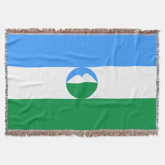 Kabardino-Balkaria Flag Throw Blanket