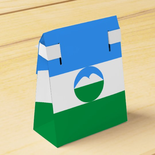 Kabardino-Balkaria Flag Wedding Favor Box