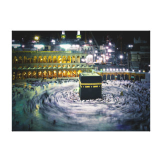 Kabbah at night canvas print