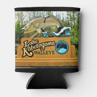 Kabetogama Lake Walleye Custom Can Cooler