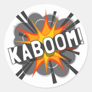 KABOOM! CLASSIC ROUND STICKER