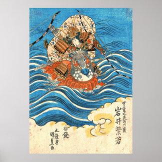 Kabuki Actor Iwai Shijaku 1830 Poster