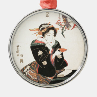 Kabuki Actor Reflected in a Sake Cup Metal Ornament