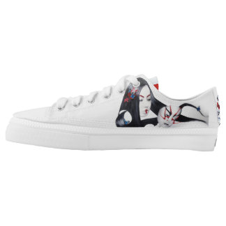Kabuki & Geisha Low-Top Sneakers