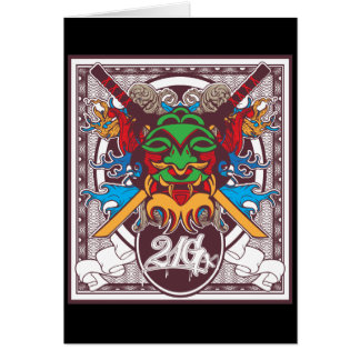 Kabuki Mask Card