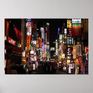 Kabukichō, Tokyo Neons by night Poster