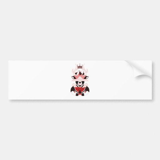 kabutomushi and watermelon (BEETLE AND WATERMELON) Bumper Stickers