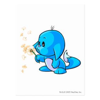 Kacheek Blue Postcard