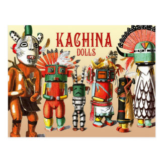 Kachina dolls of the Hopi Native American Tribe Postcard