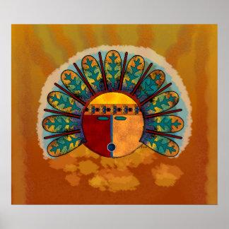 Kachina Mask Poster