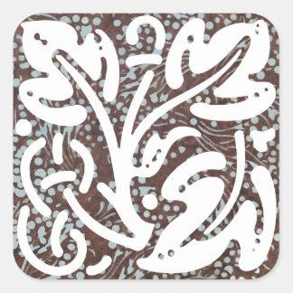 Kade Batik Ornament 5 Square Sticker