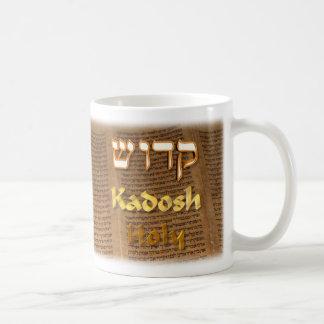 Kadosh, Hebrew for Holy Coffee Mug
