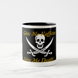 Kaffeine Pirate Two-Tone Coffee Mug