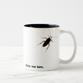 Kafka was here... Two-Tone coffee mug