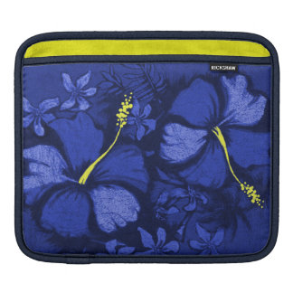 Kahala Hibiscus Hawaiian Lava Rock Illustration iPad Sleeve