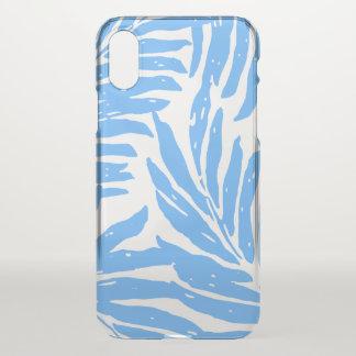 Kahanu Garden Hawaiian Palm Leaves Blue iPhone X Case