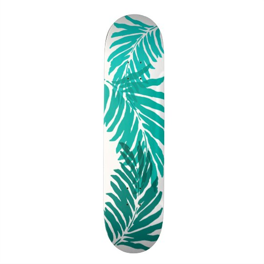 Kahanu Garden Hawaiian Palm Leaves Custom Skate Board