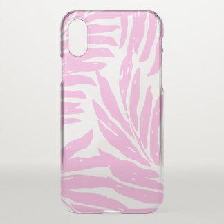 Kahanu Garden Hawaiian Palm Leaves Pink iPhone X Case