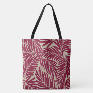 Kahanu Palms Hawaiian Linen Texture Beach Bag