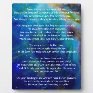 Kahlil Gibran on children Plaque